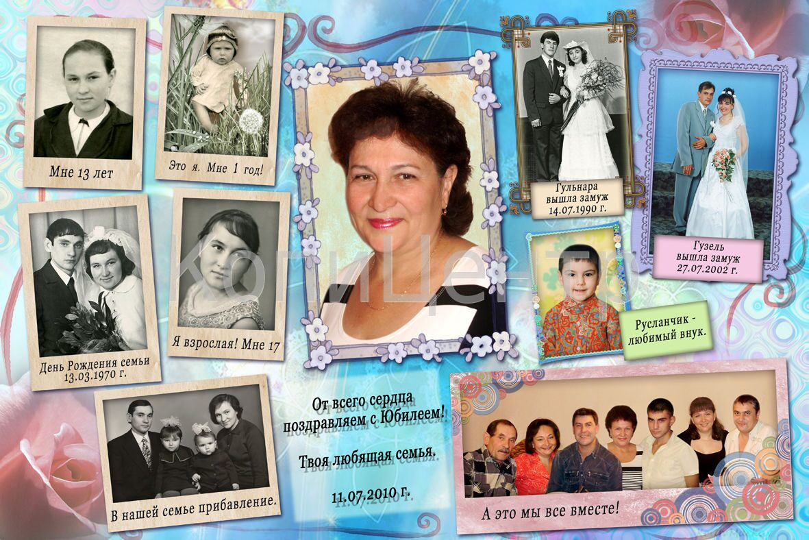 Плакат своими руками на юбилей 70 лет женщине 52
